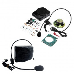 DIY 2x3W Multifunctional Bluetooth Speaker Kit With Case