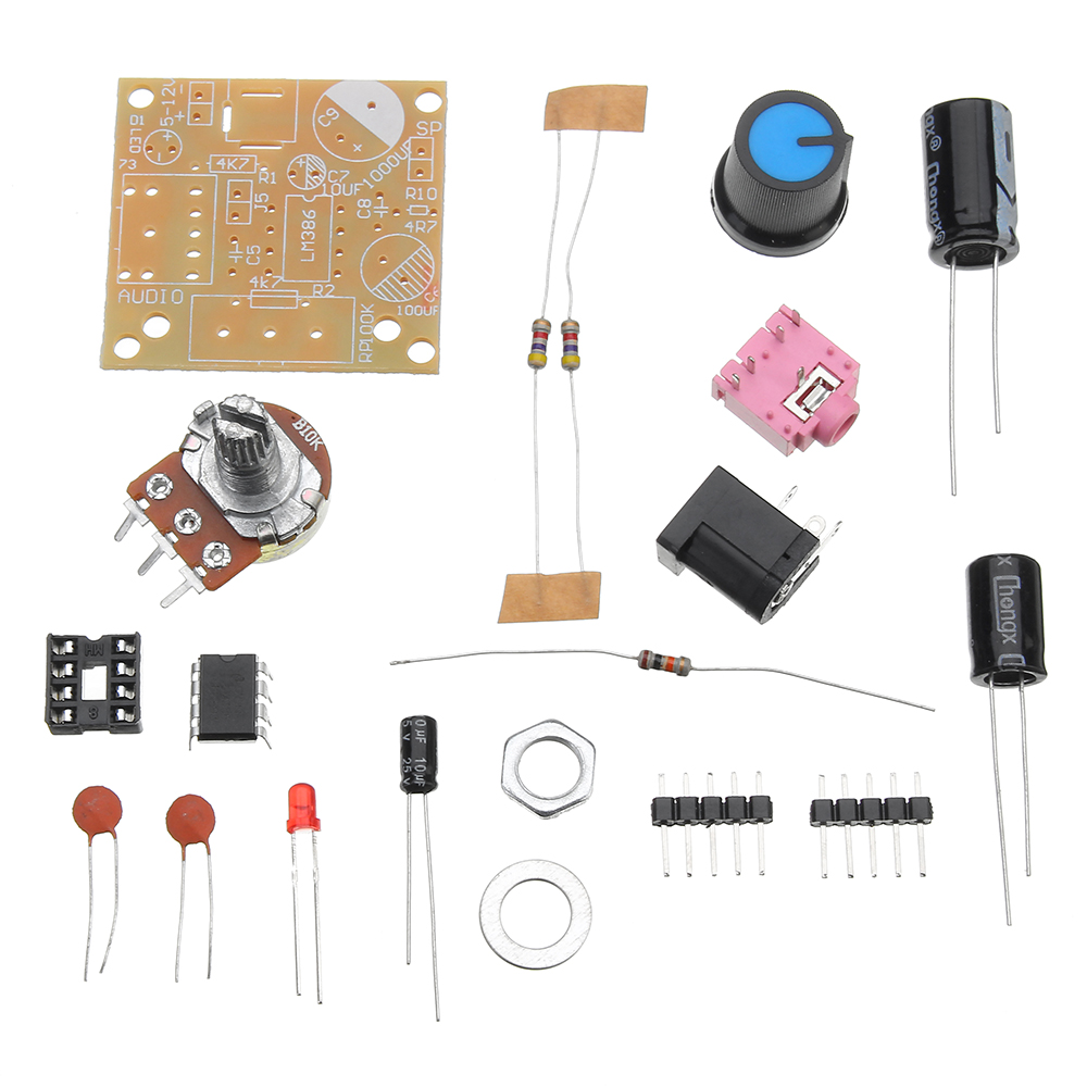LM386 DC 3-12V 3 5mm Super Mini Audio Amplifier Board Module Audio Power  Electronic Kit