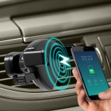 9V-1.8A 10W QI Fast Car Charger Universal 360 Rotating Mount Air Vent Car Wireless Charger