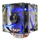 Pccooler 12V X6 4 Pin Double Blue LED Copper CPU Cooler Cooling Fan For AMD AM4 Intel LGA 775