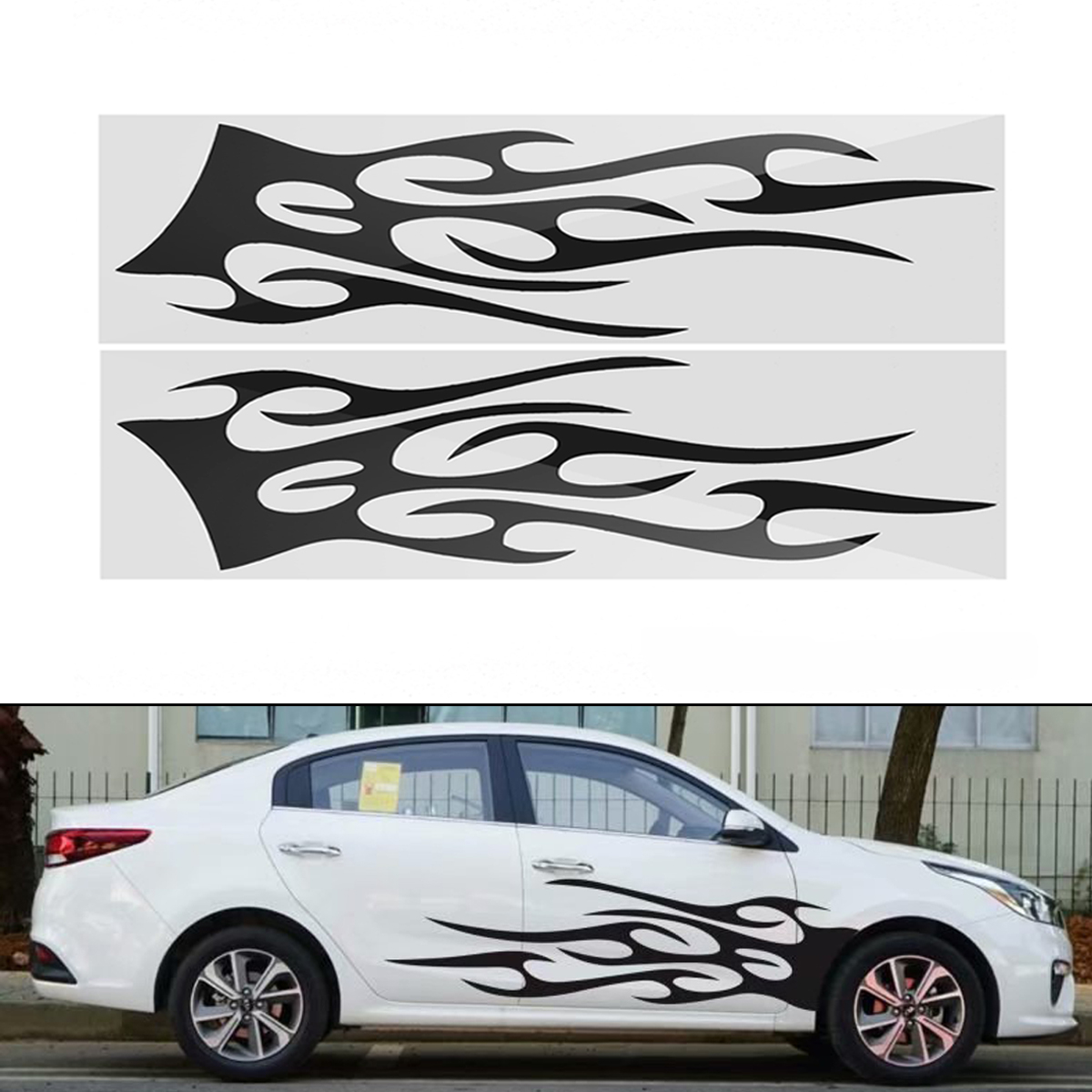 149cm42cm sports stripe pattern style car stickers vinyl decal for race suv side body
