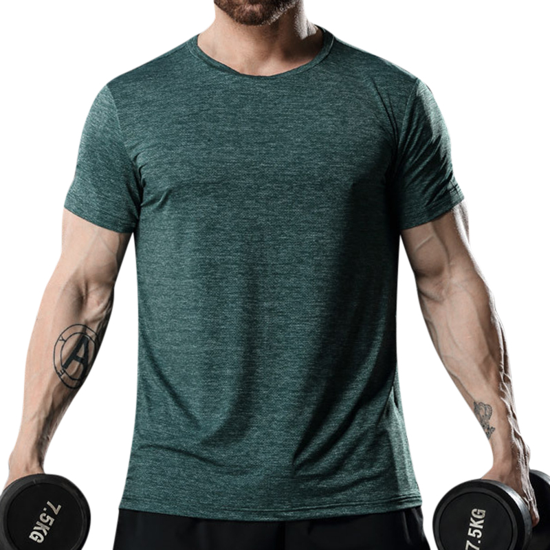 Quick-drying Sports T-Shirts Men's Thin Stretch Breathable Casual O-Neck Running Training Tops