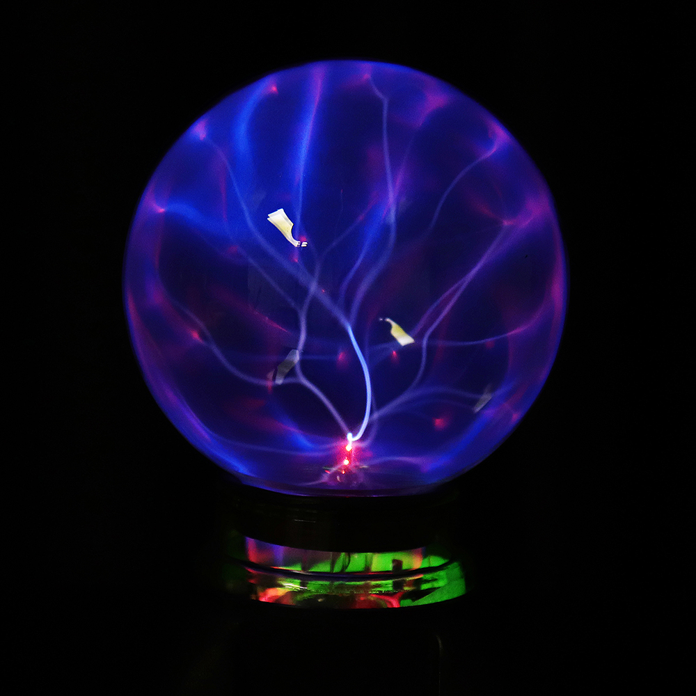 5 Inch USB Music Plasma Ball Sphere Light Crystal Light Magic Desk Lamp  Novelty Bule Light Home Decor