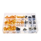 Blakc/Gold Full Fairing Bolt Kits 134PCS For Honda CBR600RR CBR900RR CBR1000RR CBR1100XX