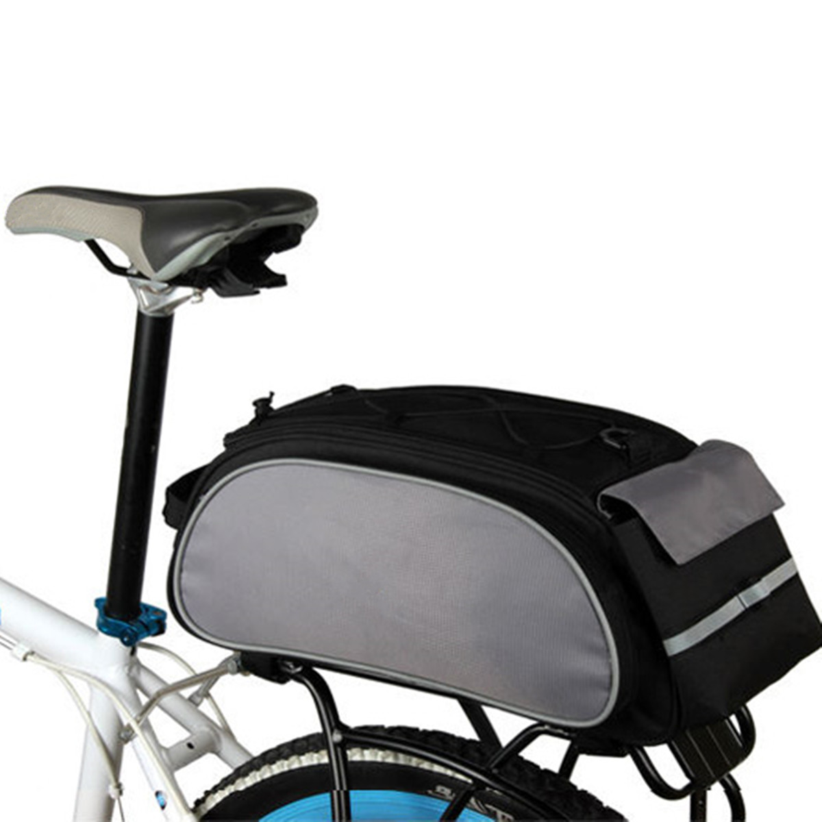 MTB Bike Rear Shelf Tail Package Bicycle Storage Bag Cycling Back Seat Pannier