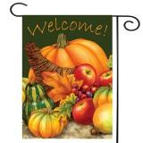 28″ x 40″ Pumpkin Harvest Cornucopia Welcome Autumn Fall Garden Flag Yard Banner Decorations