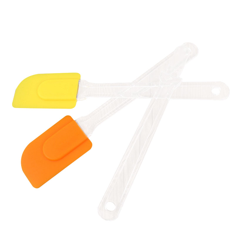 Silicone Scrapers Baking Scraper Cream Butter Handled Cake Spatula Cooking Cake Brushes  Pastry Tool