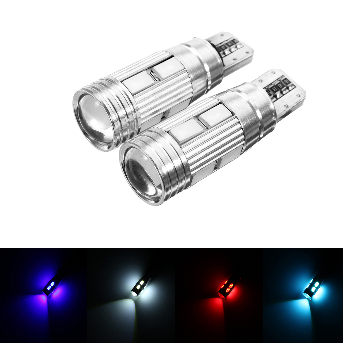 2pcs t10 w5w led wedge car side marker lights bulb lamp. Black Bedroom Furniture Sets. Home Design Ideas