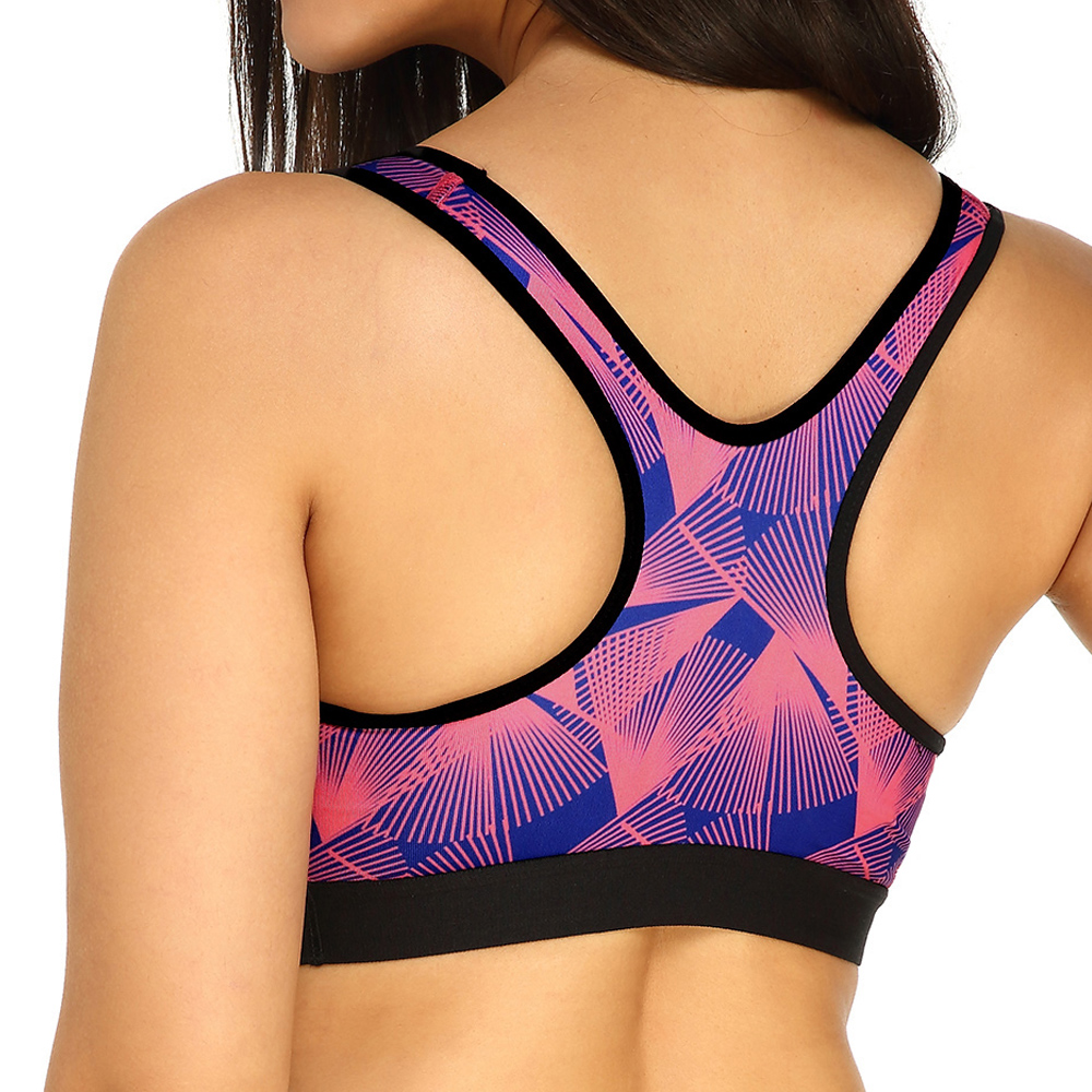 KissLace Printed Shockproof Padded Full Coverage Fitness Sports Bra