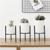 Metal Plant Stand Flower Pot Shelves Rack Holder Aron Frame Ceramic Vase