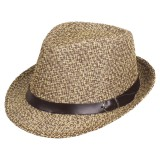 Men Summer Woven Straw Hat Outdoor Sun Protection Wild Brimmed Jazz Hat Visor