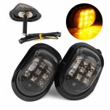 12V 9 LED Motorcycle Turn Signal Indicators Lights Lamp Universal Amber