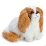 Cute Puppy Lifelike Simulation Dog Stuffed Plush Toy Realistic Home Desk Decoration