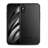 Bakeey Protective Case For iPhone XS Carbon Fiber Fingerprint Resistant Soft TPU Back Cover