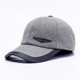 Men Women Middle-aged Cotton Baseball Cap Outdoor Sport Earmuffs Warm Peaked Cap