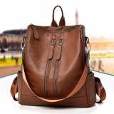 Leather Backpack Travel Camping Handbag School Bag Shoulder Bag Waterproof Rucksack