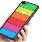 Bakeey Rainbow Scratch Resistant Tempered Glass Back Cover TPU Frame Protective Case For iPhone