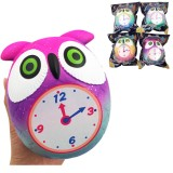 Taburasaa Owl Clock Squishy 12*10.5*9CM Soft Slow Rising With Packaging Collection Gift Toy
