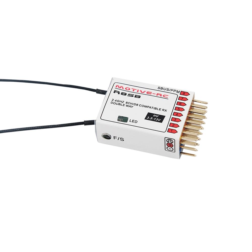 MOTIVE-RC R8SB 2 4G 9CH Frsky D8 Compatible Telemetry Receiver for X9D Plus  DJT XJT Transmitter