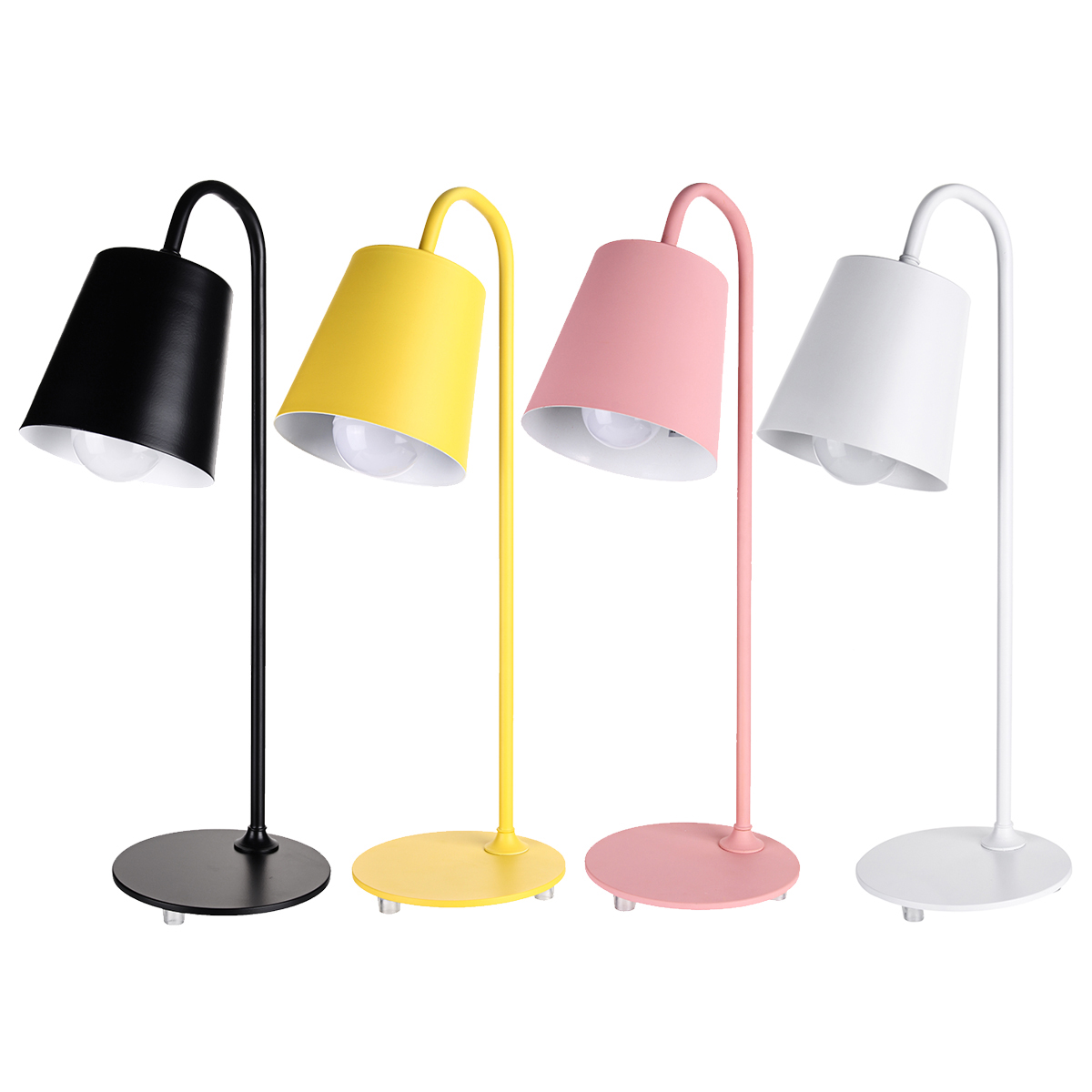 Nordic Metal Table Lamp Bedside Desk Lamp Kids Bedroom