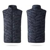 Unisex USB Electric Warm Back Cervical Spine Hooded Winter Heating Vest Coat Jacket Thermal