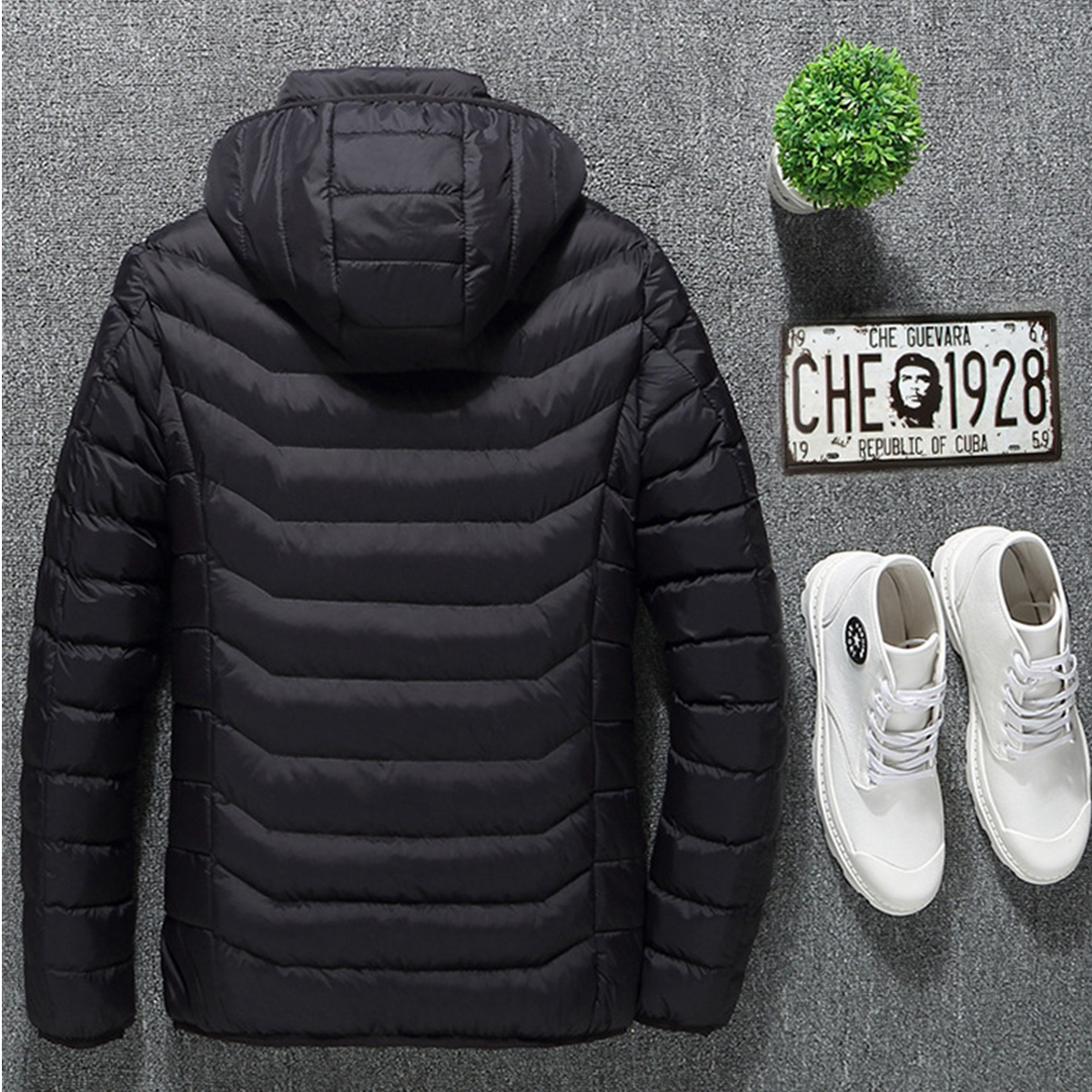 26cda6e354d Mens Women USB Heated Warm Back Hand Wrist Hooded Winter Jacket ...