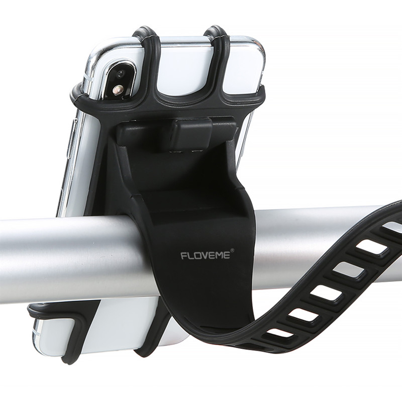 Iphone Holder For Bike >> Floveme Elastic Wear Resistant Silicone Bike Bicycle Handlebar Holder Mount For Iphone Mobile Phone