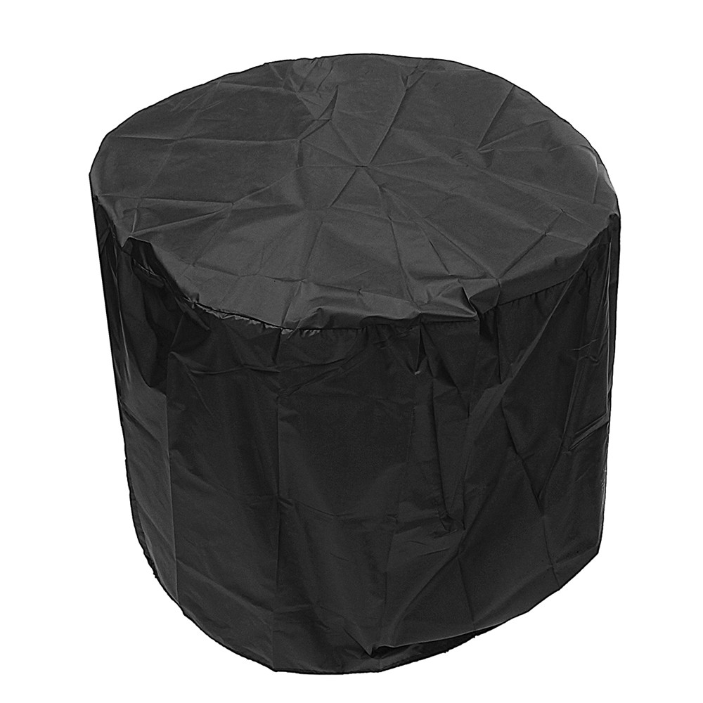71x53cm Round Fire Pit Cover Waterproof UV Patio Grill BBQ Outdoor Protector Cover