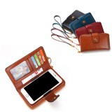 Women Oil Wax Genuine Leather 4.7/5.5 Inch Phone Bag 7 Card Slot Wallet Multi-function Bags