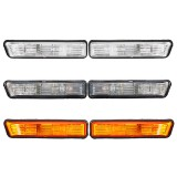 Pair Side Marker Lights Turn Lamp Shell Cover for BMW E36 1997-1999 X5 2000-2006