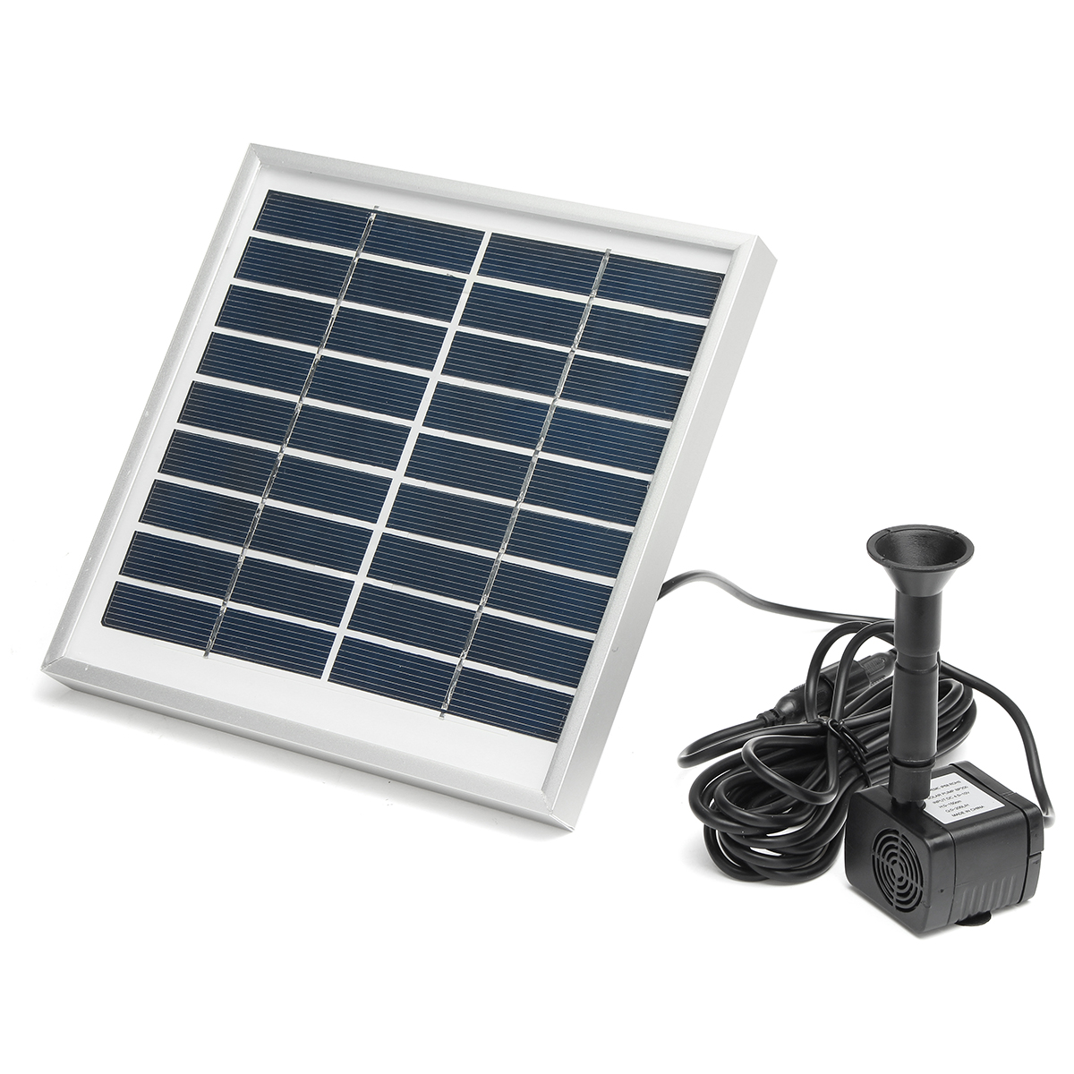 Solar Panel Fountain: 3W Solar Panel Powered Submersible Fountain Pump Water
