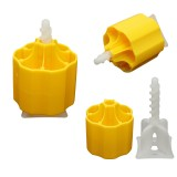 Floor Tile Leveling System 50 Caps and 100 Tile Spacers Plastic Flooring Tool Kits