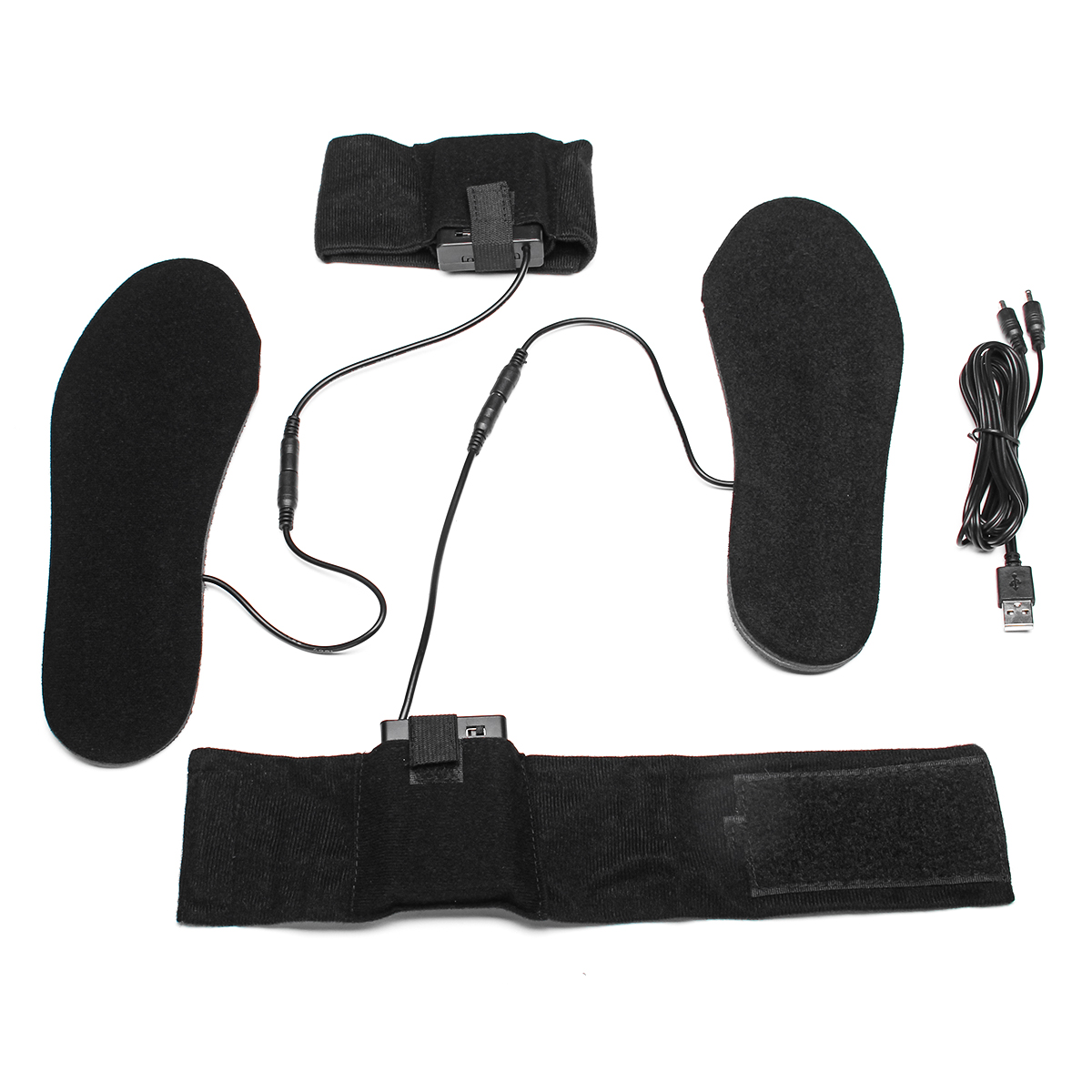 4.5V USB Heated Shoe Insole Electric Battery Powered Thermal Foot Toe Warmer Boot Shoes