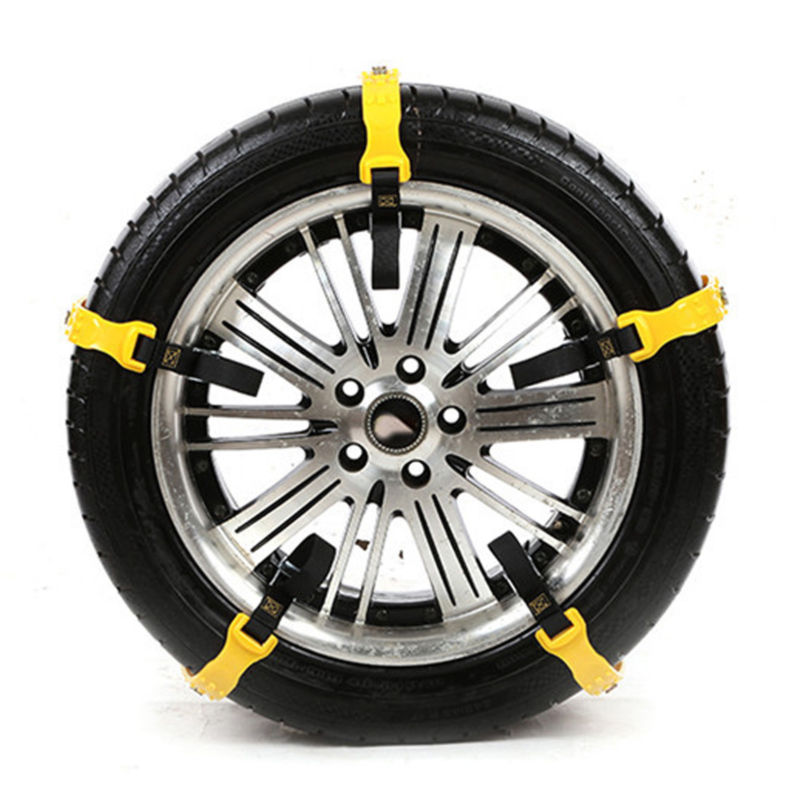 6pcs Car Vehicle Truck Snow Chain Tire Chain Beef Tendon Wheel Anti-skid Belt UK