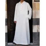 TWO-SIDED Mens Kaftan Vintage Loose Robe Hooded Long Dress Long Sleeve Long Tops Shirts