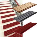 5PCS Non Slip Tread Carpet Mats Step Staircase Non Slip Mat Protection Cover Pad