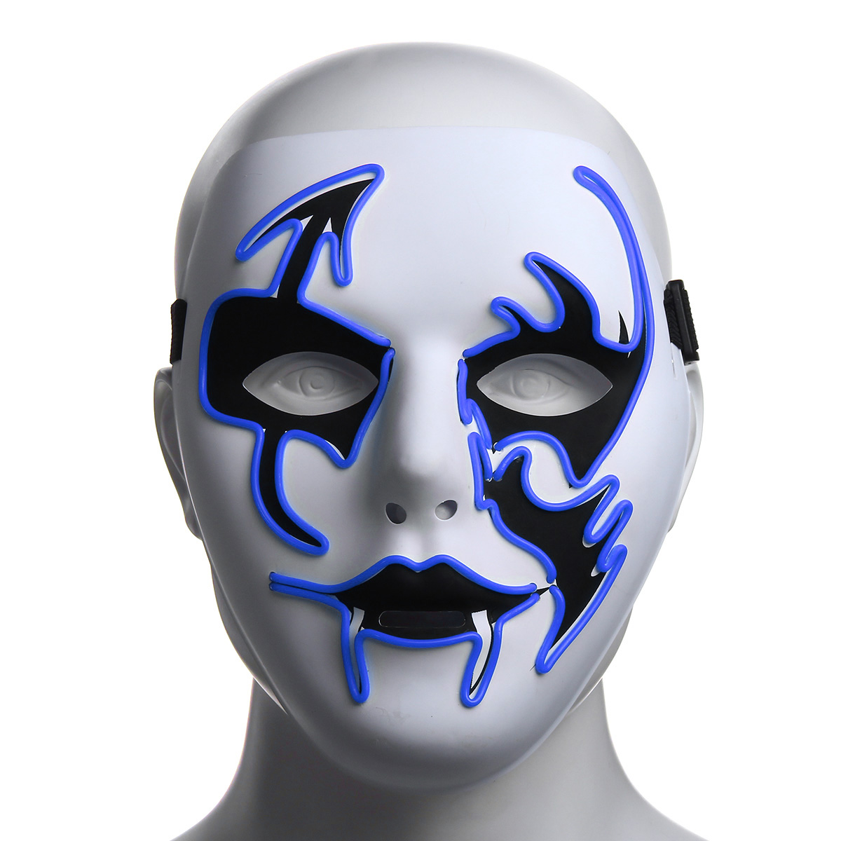 Luminous Flashing Face Mask Party LED Cosplay Halloween Cycling Dance Light Up