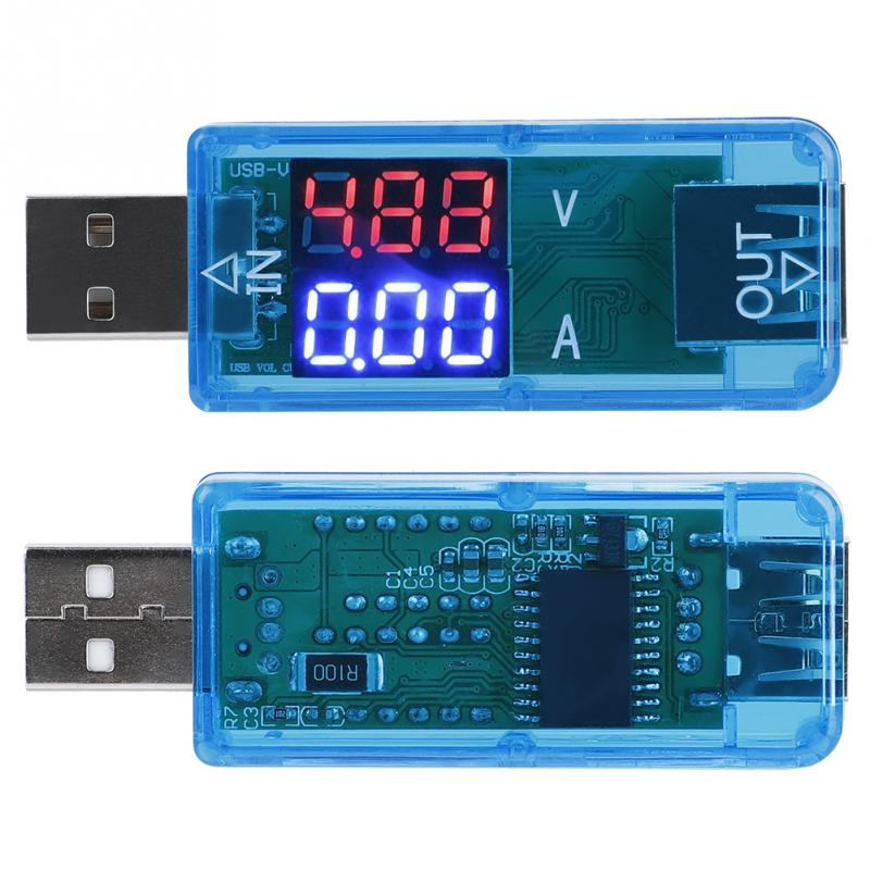 Blioesy USB Color LCD Meter Digital Power Meter Tester Voltmeter Current Meter Multimeter USB Tester
