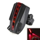BIKIGHT  Laser LED MTB Cycling Bicycle Safety Warning Light Bike Tail Light Motorcycle E-bike