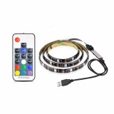 1M USB Power RGB 5050 SMD 30LED Strip LCD Monitor TV Background Light+17Key RF Remoter Kit DC5V