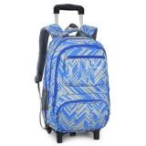 25L Teenager 6 Wheels Detachable Travel Trolley Luggage Backpack Student School Bag
