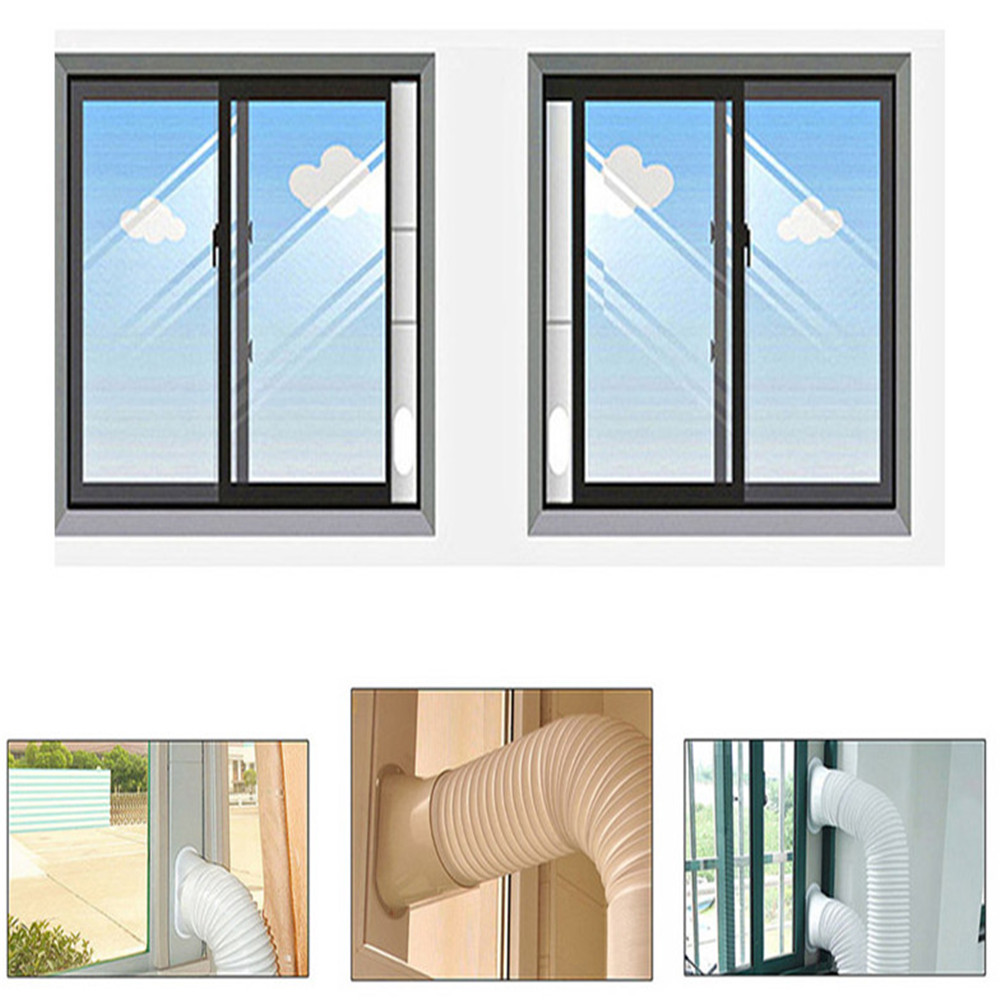 2pcs Adjustable Window Slide Kit Plate Air Conditioner Wind Shield For Air Conditioner