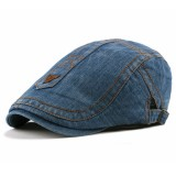 Mens Casual Washed Cotton Beret Hat Outdoor Adjustable Painter Cabbie Newsboy Caps
