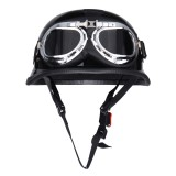 Retro Vintage Motorcycle Bike Riding Half Face Breathable Helmet with Goggles