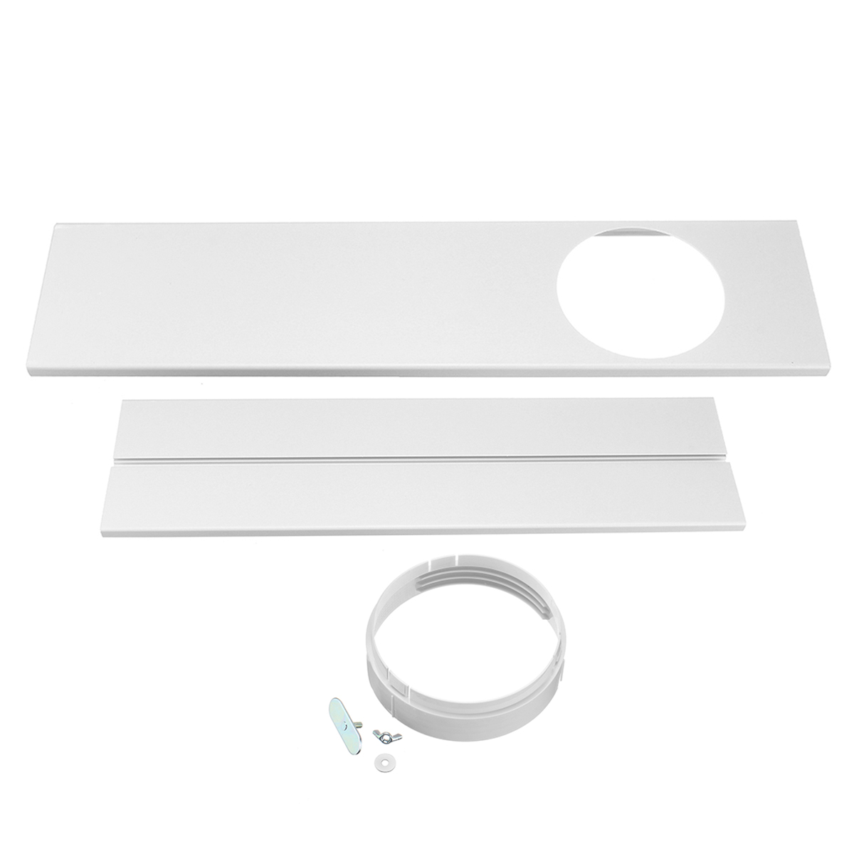 120cm Adjustable Air Conditioner Window Kit Plate For Exhaust Hose Tube Connector