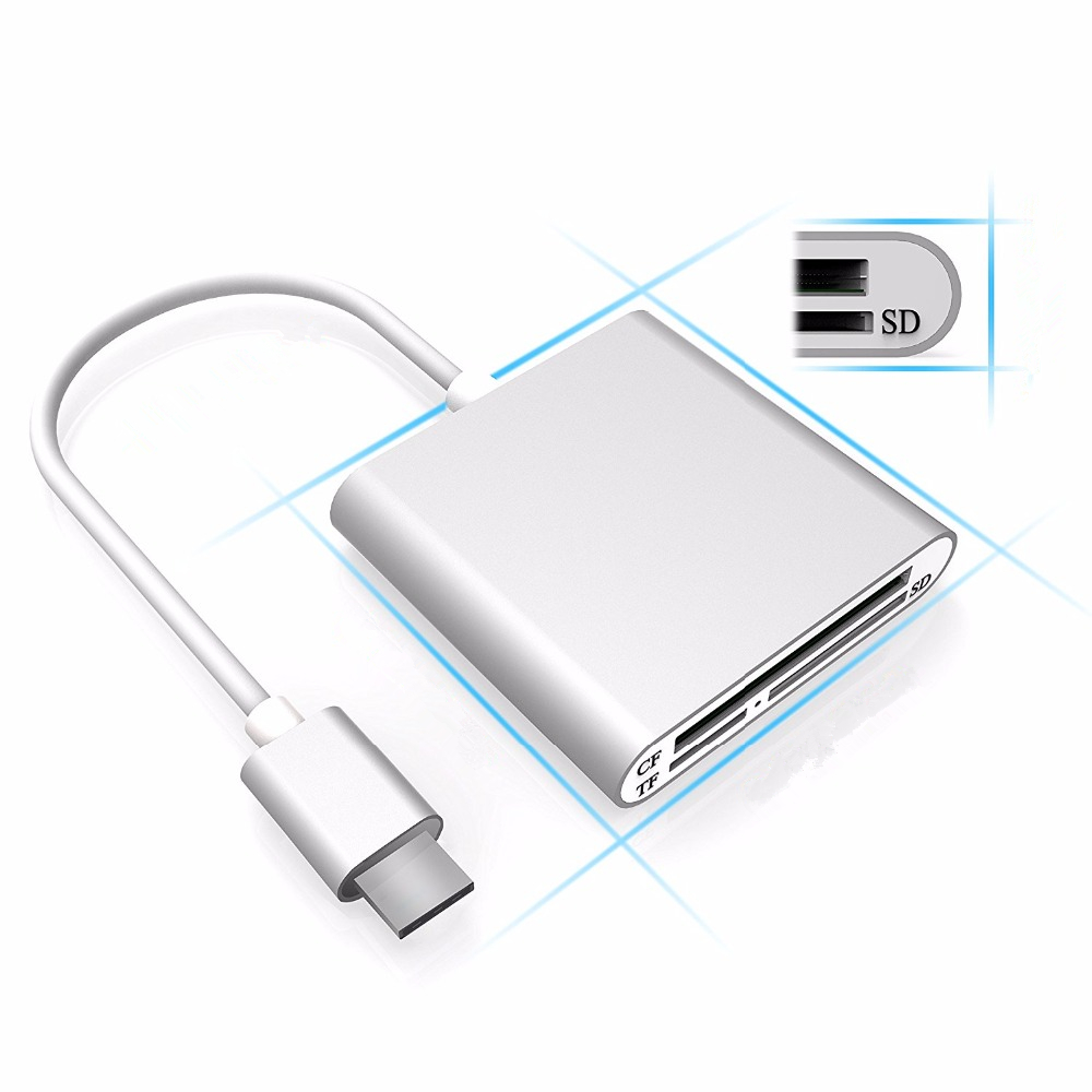 Bakeey USB3.0 Type C High Speed CF SD TF Micro SD Card Micro SD Smart Memory Card Reader OTG Adapter