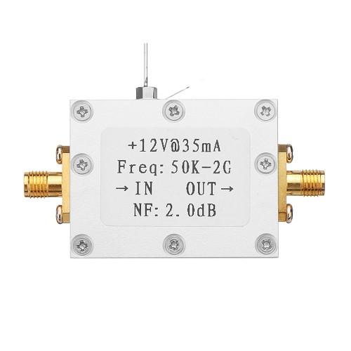 50K-2G LNA Low Noise Amplifier High Gain 31DB@0.5G Flatness RF Amplifier