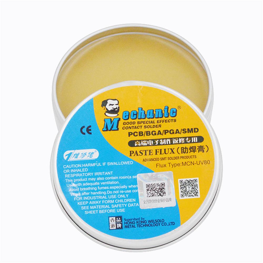 MECHANIC MCN-UV80 No-clean Solder Paste Flux Soldering Tin BGA Electric  Welding Flux for PCB BGA SMD