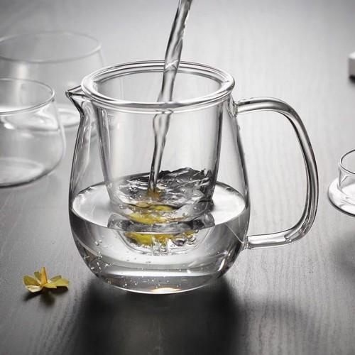 500ml Glass Teapot Infuser Filter Herbal Tea Pot Leaf Strainer Kettle