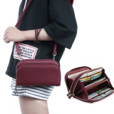 Pierre Loues Women Solid 8 Card Slot Card Bag Multi-slot Phone Bag Leisure Crossbody Bag